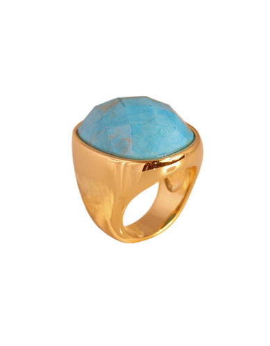 Alex Fraga 24K Yellow Gold Inlay Purple Turquoise Ring-TURQUOISE-7