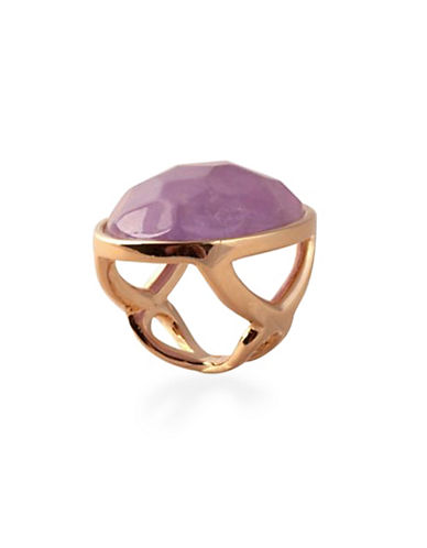 Image of Alex Fraga 24K Gold and Sterling Silver Amethyst Ring-LAVENDER-7