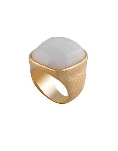 Alex Fraga 24KT Gold Amethyst and Sterling Silver Inlay Ring-WHITE-7