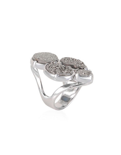 Alex Fraga Druzy Cluster Sterling Silver Inlay Ring-SILVER-8
