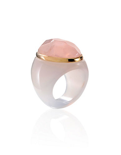 Alex Fraga Faceted Oval-Cut Stone Ring-PINK-8