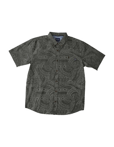Jack ONeill Alika Regular-Fit Printed Button-Down Shirt-BLACK-X-Large