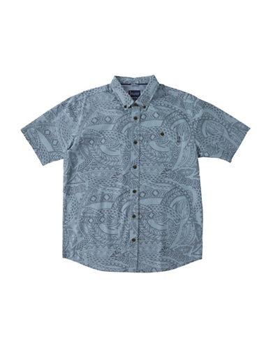 Jack ONeill Alika Regular-Fit Printed Button-Down Shirt-BLUE-Small