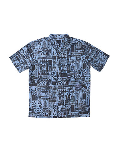 Jack ONeill Driftwood Regular-Fit Printed Shirt-BLUE-Large