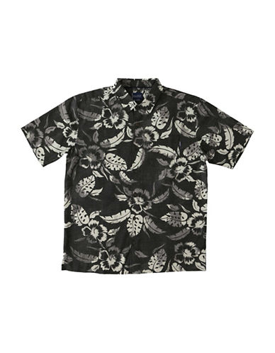 Jack ONeill Pacifica Regular-Fit Floral-Print Shirt-BLACK-Large