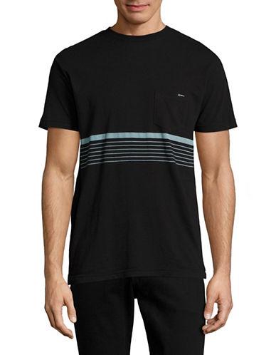 ONeill Aloha Chest Stripe Pocket T-Shirt-BLACK-Medium