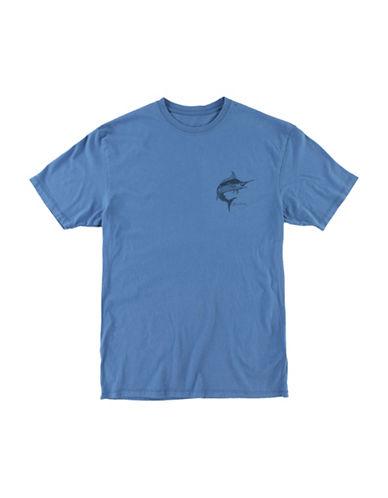 Jack ONeill Scripts Fish Graphic Short Sleeve T-Shirt-DUTCH BLUE-Medium