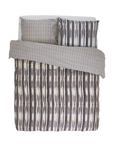 Essenza Home Berber 220 Thread-Count Duvet Cover Set-GREY-King