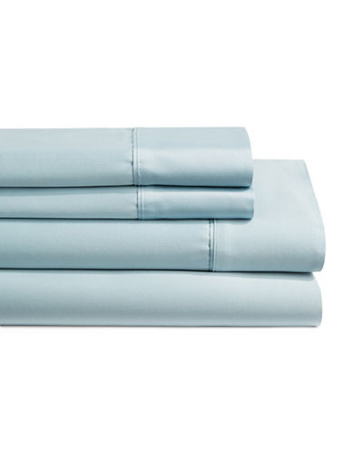 Monaco 600 Thread Count Cotton Four-Piece Queen Size Sheet Set-BLUE-Queen