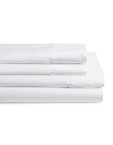 Monaco 600 Thread Count Cotton Four-Piece Queen Size Sheet Set-WHITE-Queen