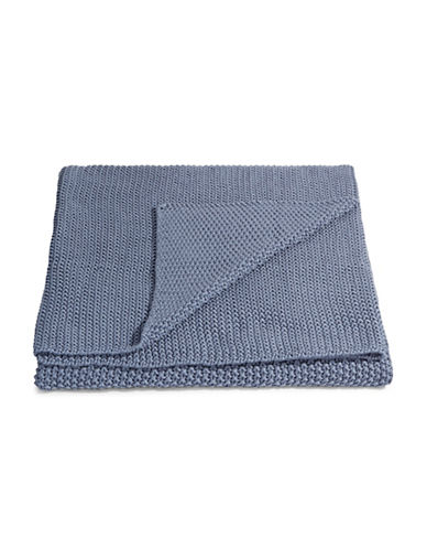 Marc O Polo Striped Cotton Throw-SMOKE BLUE-One Size