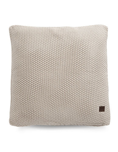 Marc O Polo Nordic Knit Square Cushion-OATMEAL-20x20