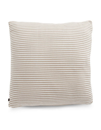 Marc O Polo Striped Square Cushion-SAND-20x20