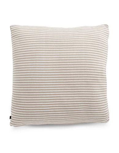 Marc O Polo Striped Square Cushion-SAND-20x20