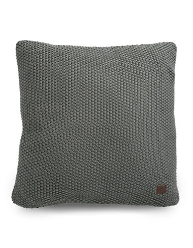 Marc O Polo Nordic Knit Square Cushion-GREY-20x20