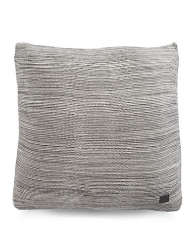 Marc O Polo Melange Knit Square Cushion-GREY-20x20