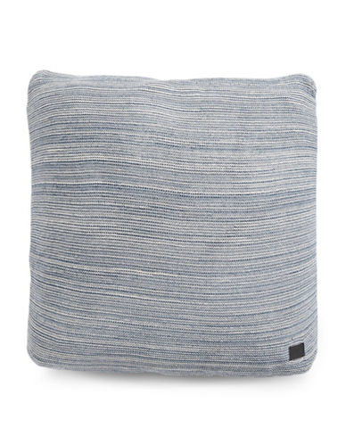 Marc O Polo Melange Knit Square Cushion-SMOKE BLUE-20x20