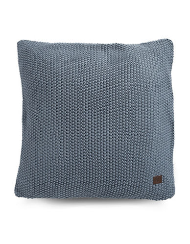Marc O Polo Nordic Knit Square Cushion-SMOKE BLUE-20x20