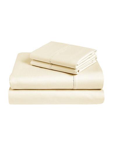 Monaco Four-Piece Egyptian Cotton 400 Thread Count Sheet Set-NATURAL-King