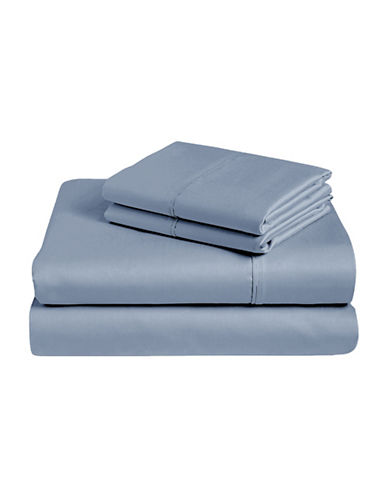 Monaco Four-Piece Egyptian Cotton 400 Thread Count Sheet Set-BLUE-Queen