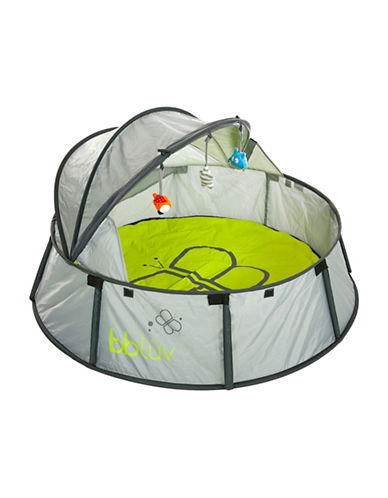 Bbluv Nido Two-in-One Travel and Play Tent-GREY-One Size