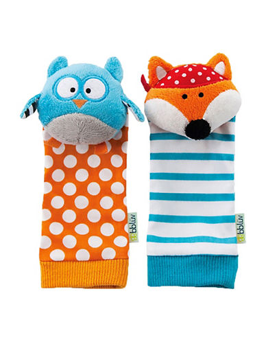 Bbluv Duo Foot Finders Owl and Fox Socks-WHITE-One Size