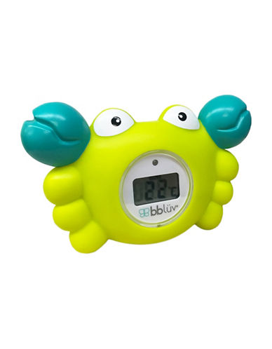 Bbluv Krab 3-in-1 Thermometer and Bath Toy in Fahrenheit-LIME-One Size
