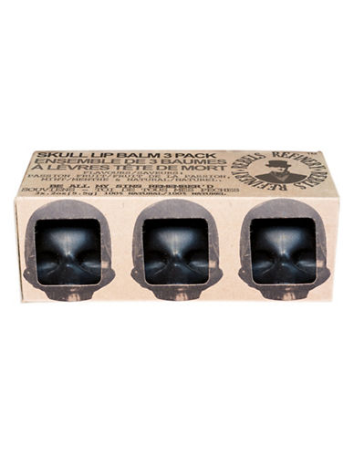 Rebels Refinery Three-Pack of Skull Lip Balm-NO COLOUR-0
