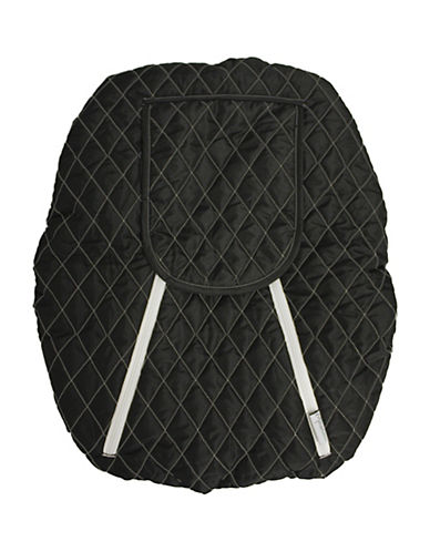 Mint Marshmallows Backless Car Seat Cover-BLACK-One Size