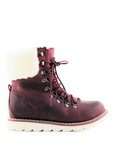 Royal Canadian Lethbridge Shearling Trimmed Boots-BURGUNDY-7