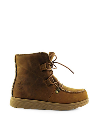 Royal Canadian Wawa Lace-Up Leather Boots-BROWN-7
