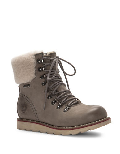 Royal Canadian Lethbridge Shearling Trimmed Boots-GREY-8