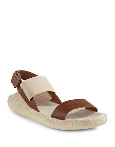 Royal Canadian Tobermory Leather-Blend Flat Sandals-COGNAC-6