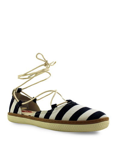 Royal Canadian Yoho Striped Espadrilles-NAVY-9