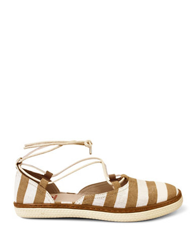 Royal Canadian Yoho Striped Espadrilles-TAUPE-7.5