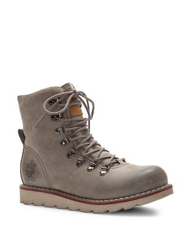 Royal Canadian Aldershot Cold Weather Leather Boots-GREY-7.5