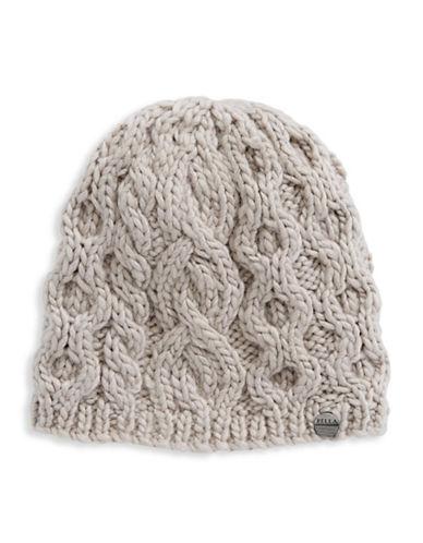Rella Wool Knit Hi Rise Beanie-GREY-One Size