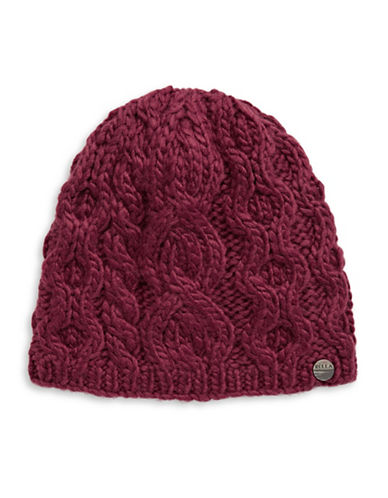 Rella Wool Knit Hi Rise Beanie-RED-One Size
