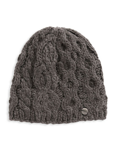Rella Wool Knit Hi Rise Beanie-CHARCOAL-One Size