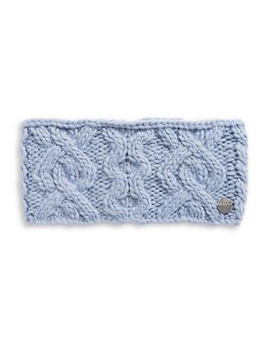 Rella Wool Knit Headband-BLUE-One Size