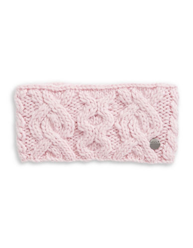 Rella Wool Knit Headband-PINK-One Size