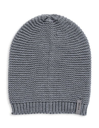 Rella Slouch Knit Beanie-SMOKE-One Size