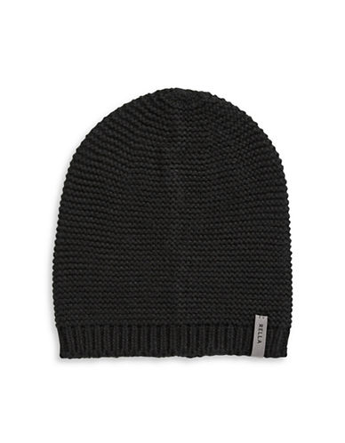 Rella Slouch Knit Beanie-BLACK-One Size