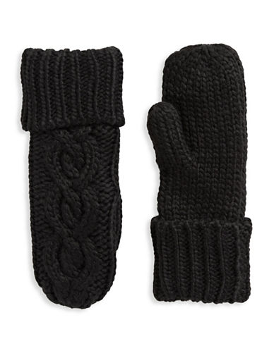 Rella Wool-Blend High-Rise Mittens-BLACK-One Size