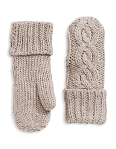 Rella Wool-Blend High-Rise Mittens-LIGHT GREY-One Size