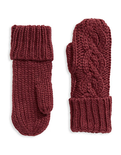 Rella Wool-Blend High-Rise Mittens-RED-One Size