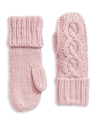 Rella Wool-Blend High-Rise Mittens-PINK-One Size