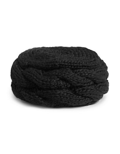Rella Louie Wool-Blend Beret-BLACK-One Size