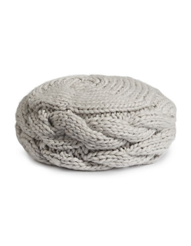Rella Louie Wool-Blend Beret-GREY-One Size