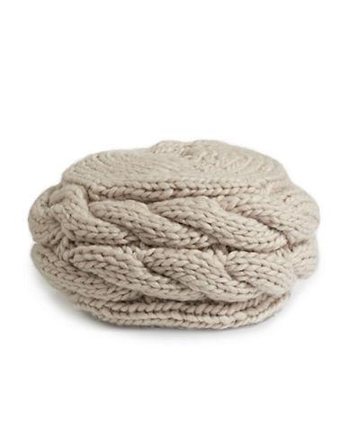 Rella Louie Wool-Blend Beret-BEIGE-One Size